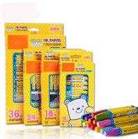 VIVCOR 112 18 24 36 Colors Crayons Suit Washable Color Crayon Children Graffiti Oil Pastel Art