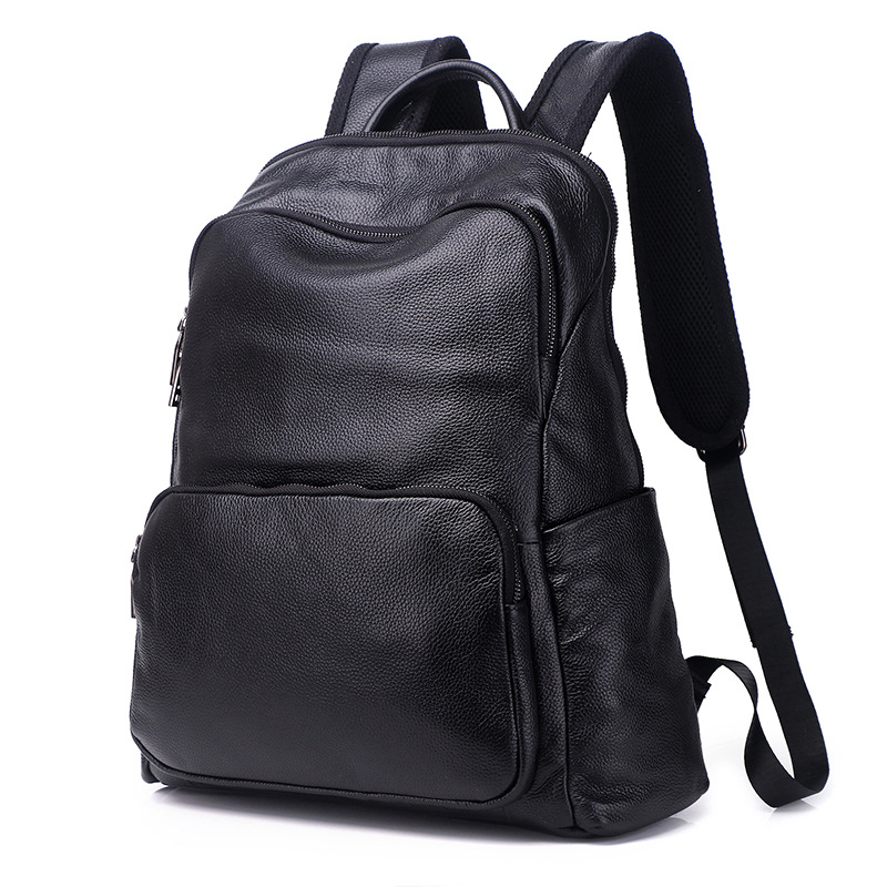 100% Cow Genuine Leather Men Backpacks Fashion Real Natural Leather Student Backpack Boy L