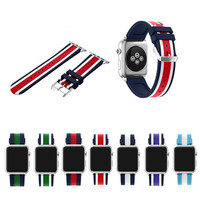 2pcs 38mm 42mm Apple Watchbands Soft Silicone Sport Replacement Watch Band For IWatch Wrist Strap With