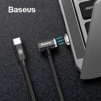 Baseus 86 Вт Магнитная Тип usb C кабель для Macbook локоть зарядный кабель для Samsung Galaxy S8 S9 PD 3,0 Быстрая зарядка USB C