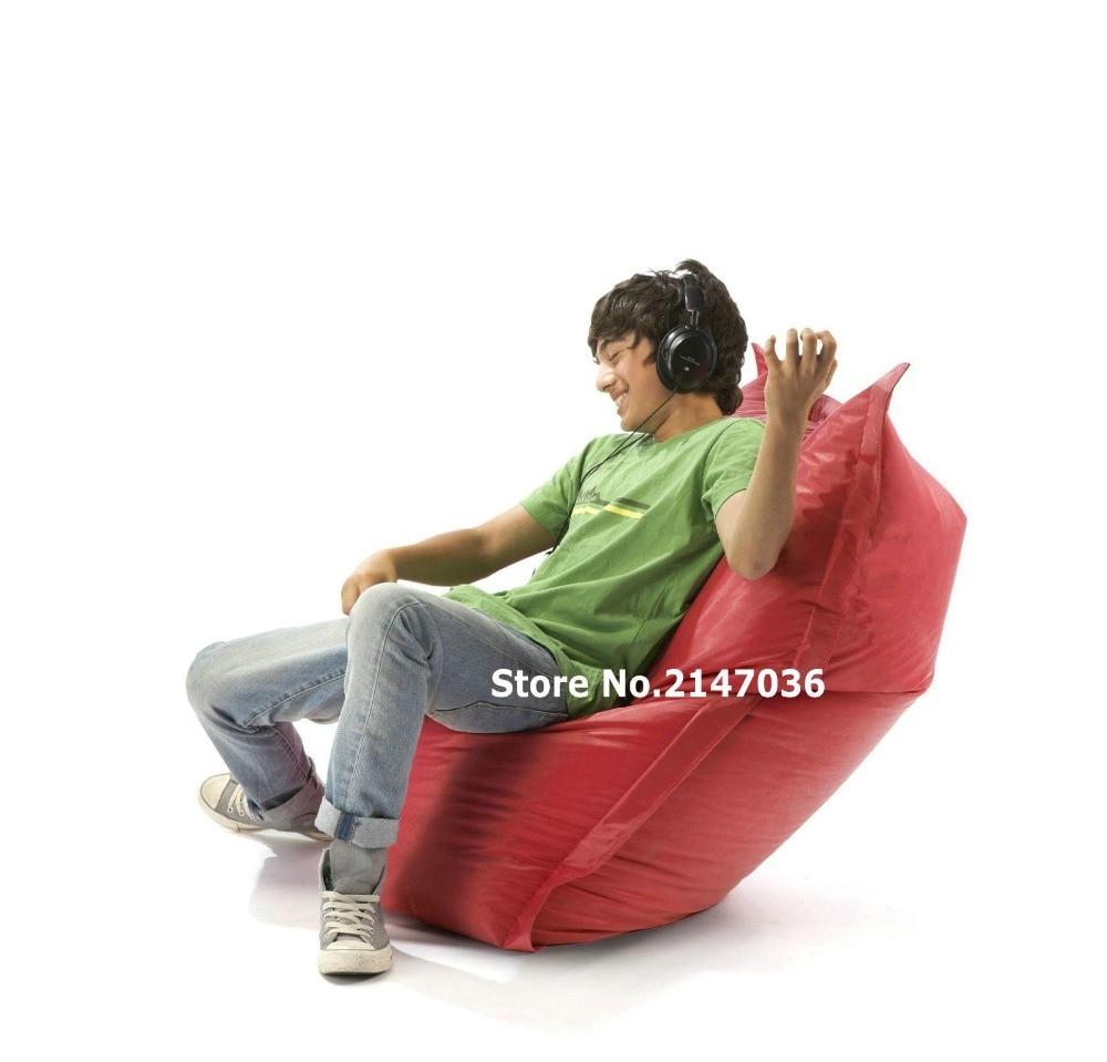 red , brown, black children slide bean bag chair, outdoor beanbag sofa seat