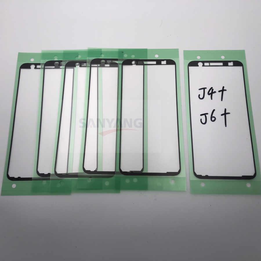 الأصلي LCD الإطار الأمامي الحافة لاصق ملصق شريط لاصق لسامسونج غالاكسي j4 زائد j6 plus J415 J415F J610 SM-J610F