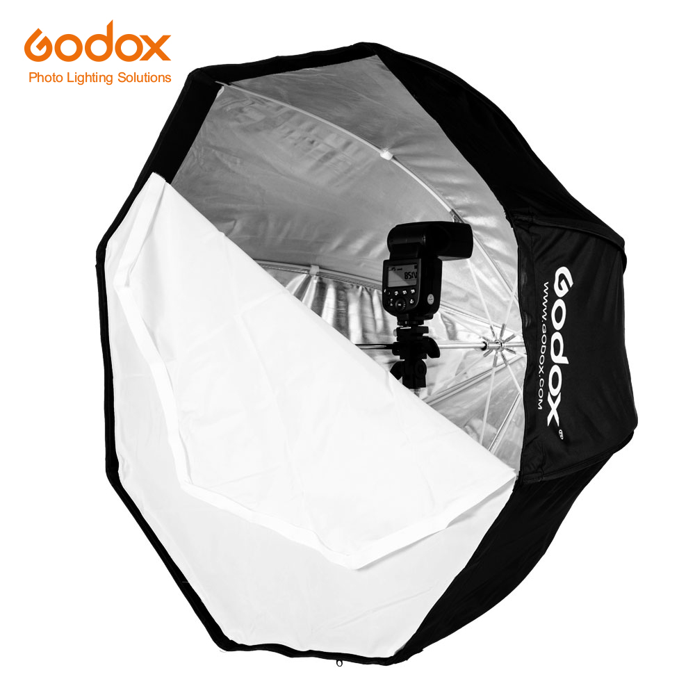 Reflector Umbrella Speedlight Flash Octagon Softbox Brolly Godox 120cm for 47in Portable