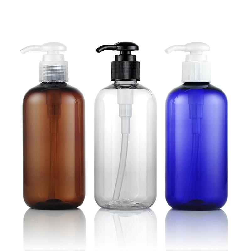 Free Shipping 30pcs lot 250ml pump bottle emulsion bottling cosmetics packaging bottle PET plastic bottle for