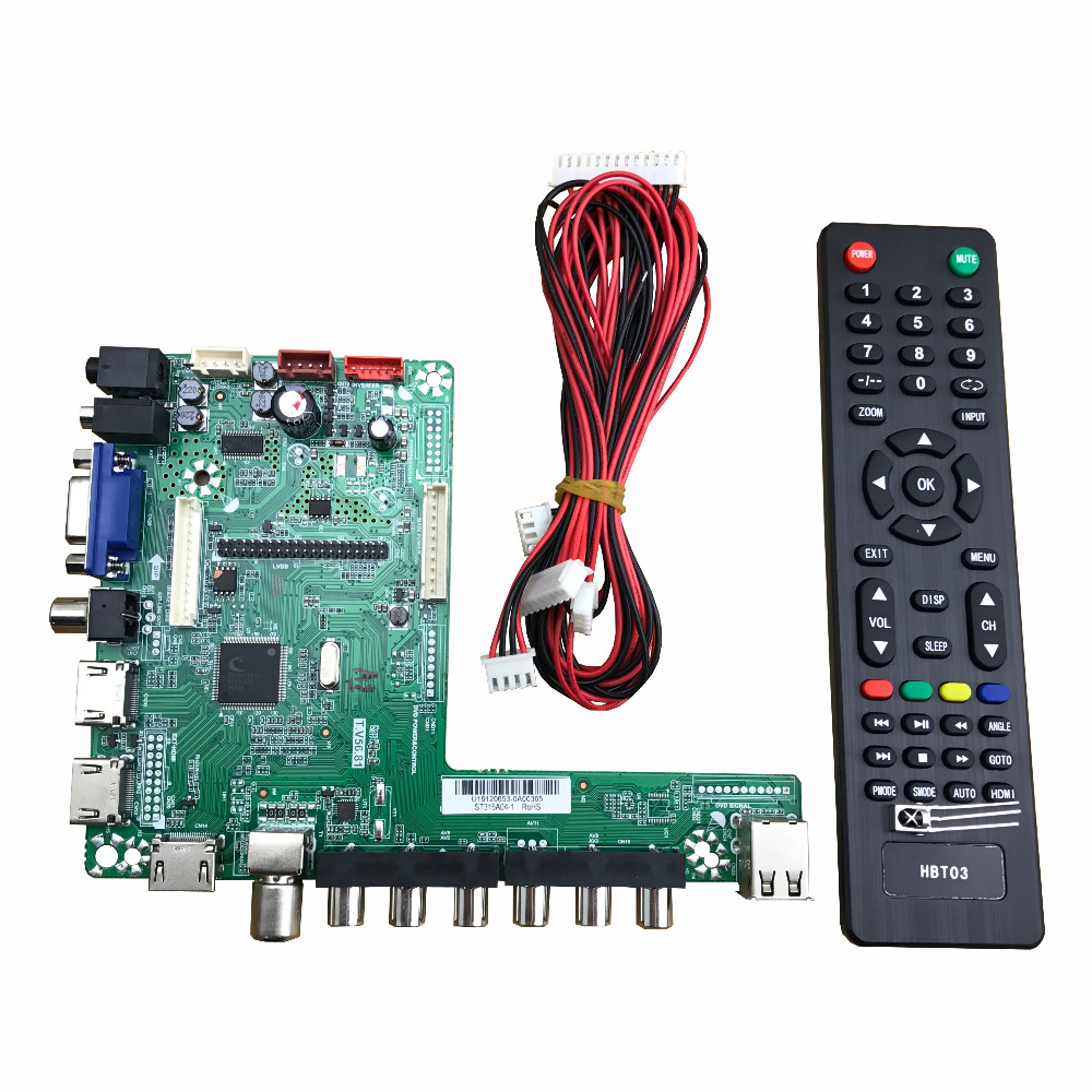 T.V56.81 universal LED driver board module 32 65inch TV board 1920*1080-in LCD Modules from Electronic Components & Supplies