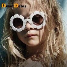 2019 Cute Sun Flower Round Sunglasses for Children Boys Girls Child Glasses with UV Protection Gift