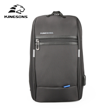 Nylon Chest Bag Pack Men Sling Back Pack for Teenagers USB Charging Shoulder Cross Body Messenger Bag School Casual Tote Travel стоимость