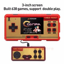 """Family Pocket Retro Video Game Console 3.0 """"Inch Handheld Console Built-in 508 Games with Game Card 130 Game Support AV OUT"""
