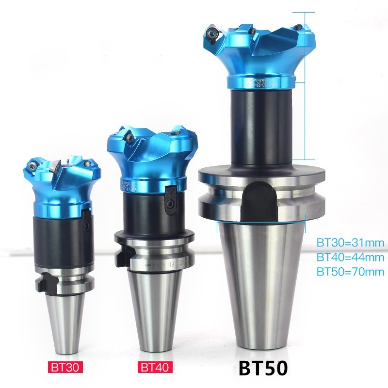 Face end mill shoulder milling cutter KM12 aluminum and BT50 Tool holder set CNC Milling New