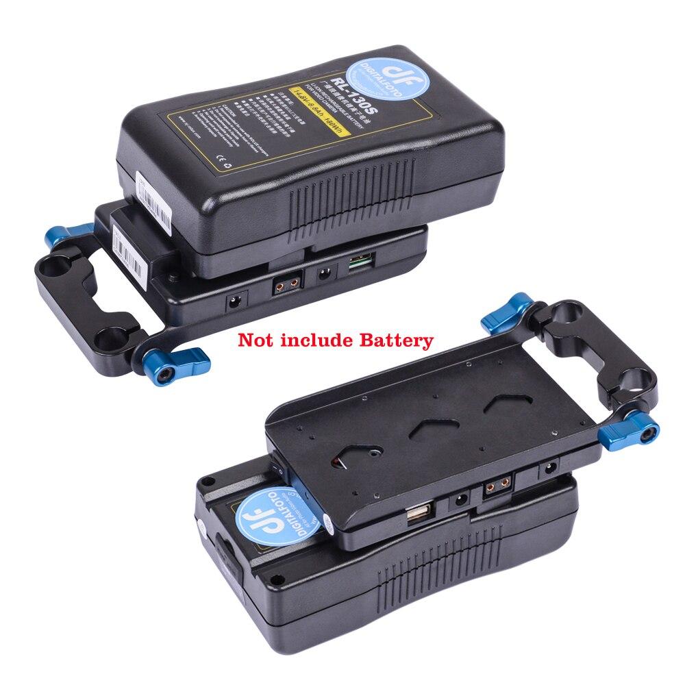 ROLUX RL-VFU0 porta USB dslr v mount adattatore di alimentazione 5D2 Macchina Fotografica V blocco sistema di alimentazione Muitl Uscita Adattatore v piastra di montaggio