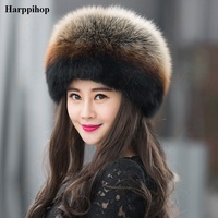2017 New Fashion Silver Fox Fur Beanies Women's Winter Caps Fox Fur whole pieces Hats Female Real Fox Fur Hat Dome 5 Colors