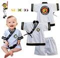 2015 мода новорожденный Одежда baby boy одежда набор летний новый baby boy одежда Японский мальчик кимоно набор с коротким рукавом ребенка одежда