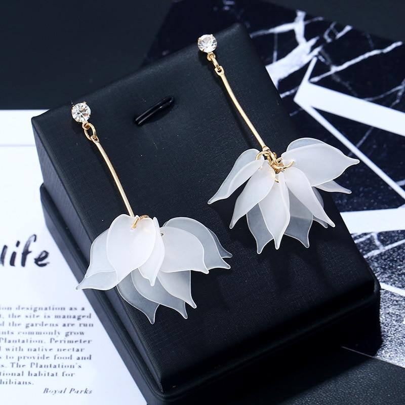 2018 New flower handmade bohemia boho earrings women fashion long hanging earrings crystal female wedding earings party jewelry|Drop Earrings|   - AliExpress
