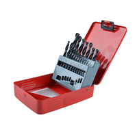 19pcs Set Drill Bit Set High Speed Steel HSS Round Shank Black Oxide 1 10mm Tungsten