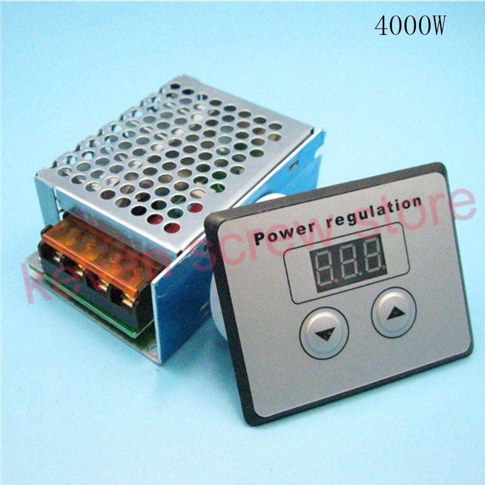 4000W 220V AC SCR Voltage Regulator Dimmer high power electronic digital voltage regulator ac 220v 4000w high power scr speed controller electronic voltage regulator governor l15