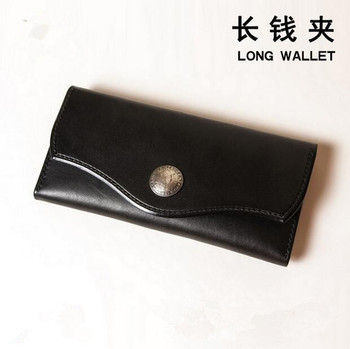 Japan Steel Blade Wooden Die Long Style Wallet cover with zipper Leather Craft Punch Hand Tool Knife Mould Sewing Accessories