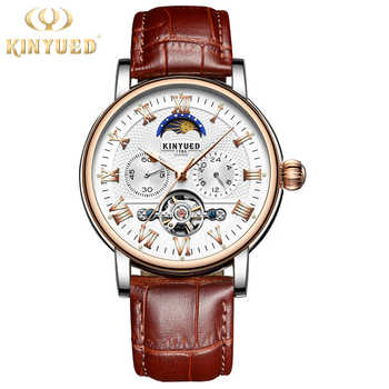 KINYUED Moon Phase Tourbillon Mens Skeleton Watch Men Chronograph Automatic Mechanical Watches Luxury Brand Relogio Masculino - DISCOUNT ITEM  45% OFF All Category