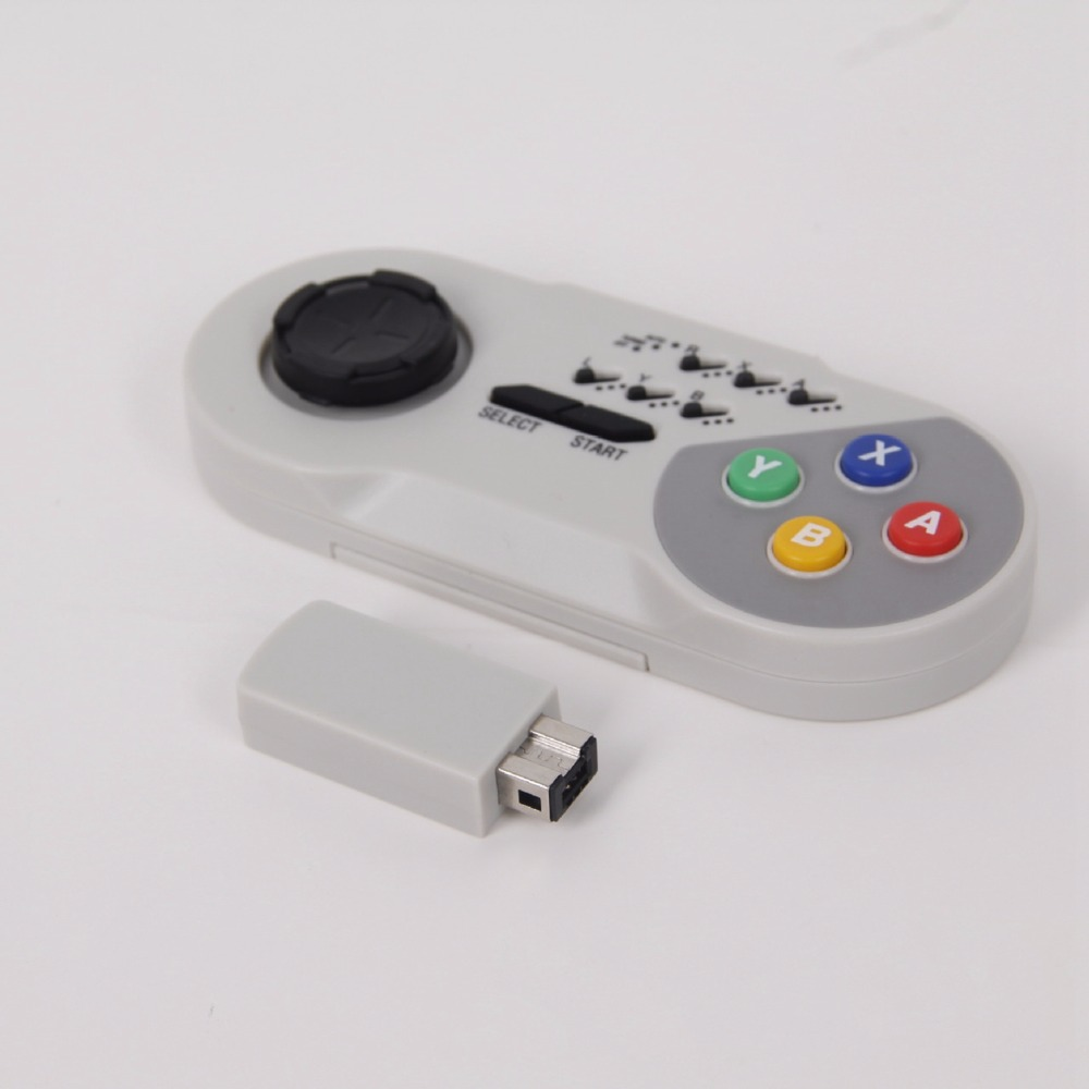 XBERSTAR Drahtlose TURBO Controller Joystick Gamapad für SNES Classic Mini Super Nintendo NES Joypad mit wireless-empfänger