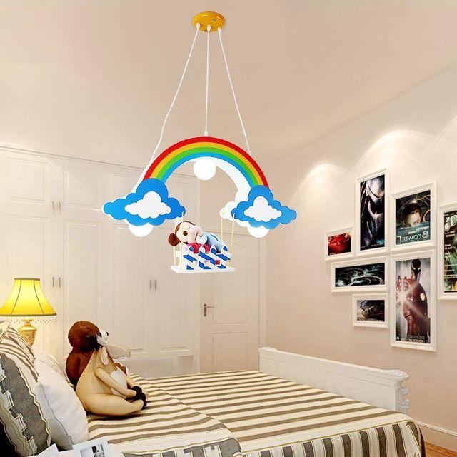 Lampadario Camera Dei Bambini Del Fumetto Bella Ragazza Del Ragazzo  Principessa Caldo E Personalità Creativa Semplice