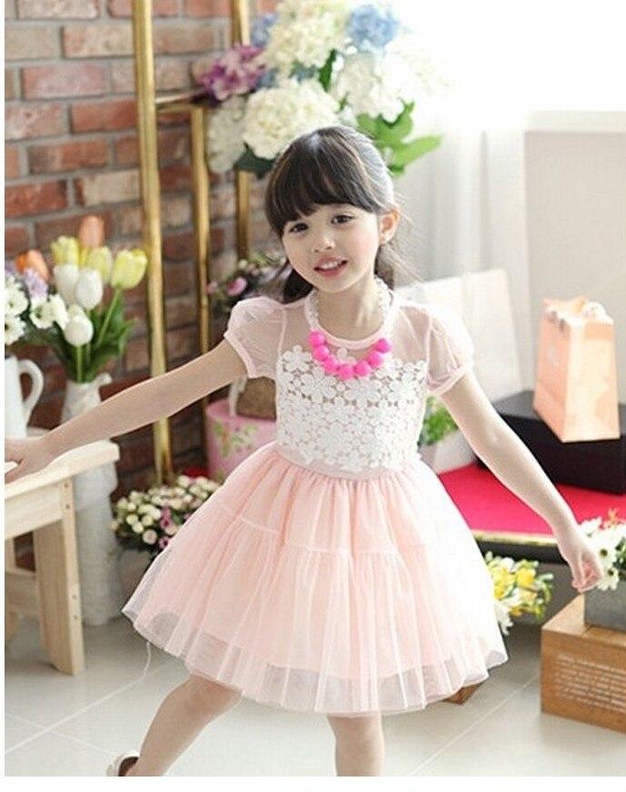 15a1c6f558 Nowy 2019 letnie dzieci bawełna sukienka koronkowa haftowane słodkie  dziewczyny księżniczka sukienki dzieci odzież 1579