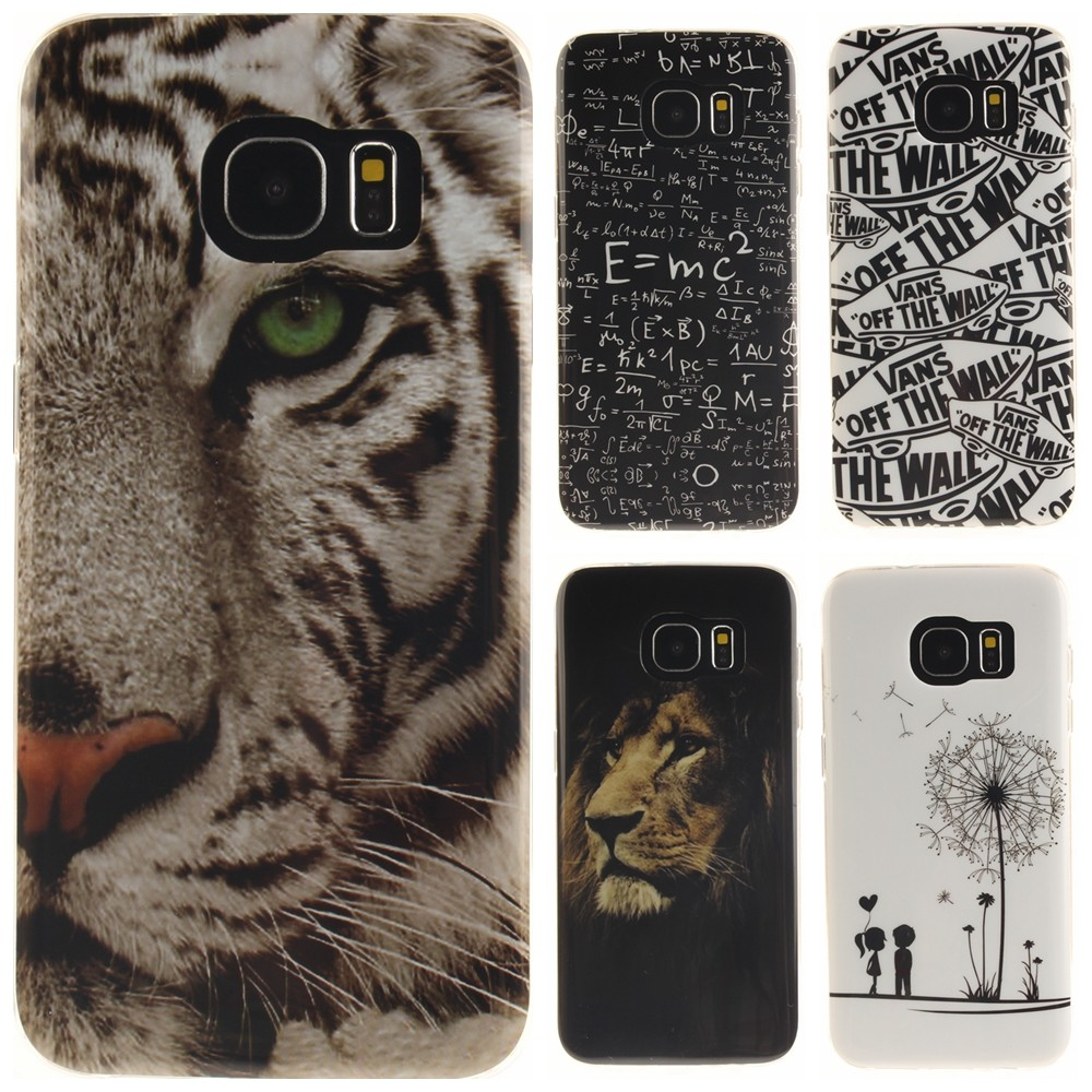 Mobile phone Case for Samsung Galaxy S7 Edge G9350 Cartoon Owl Tiger Painted Glossy Soft TPU Silicon Protective Back Cover