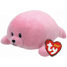 Baby Ty Collection Doodles Pink Seal 6 15cm Plush Stuffed Animal Collectible Soft Doll Toy