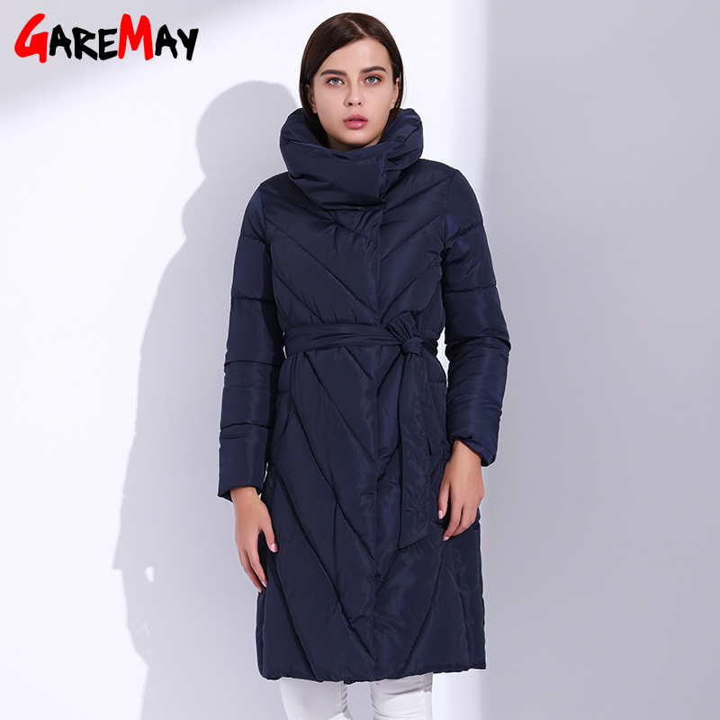 GAREMAY Women Parka Long Jackets For Women Winter Coat Big Size Quilted Thick Parka Coats Casual Feather Puffer Jacket Femme
