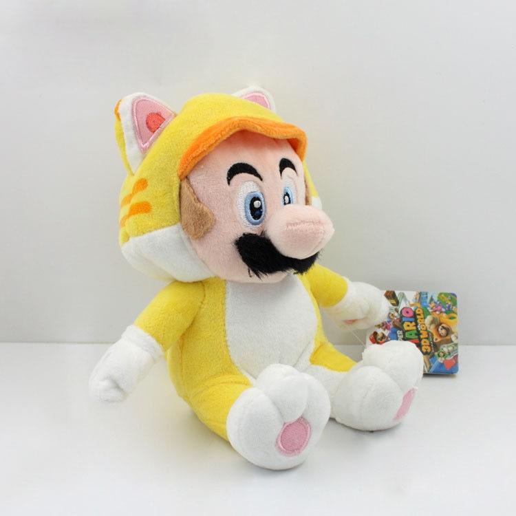 Super Mario 3D World Plush font b Toy b font Doll 9 Neko Cat Mario Luigi