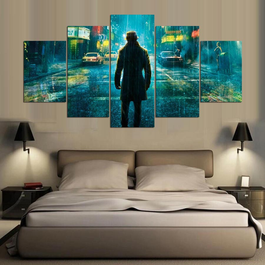 Canvas Wall Art Painting 5 Piece Canvas Art Canvas Wall Art For HD Print Character Poster Canvas Painting Wall Art Home Decor in Painting Calligraphy from Home Garden