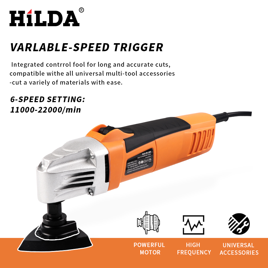 Image 2 - HILDA Renovator Multi Tools Electric Multifunction Oscillating Tool Kit Multi Tool Power Tool Electric Trimmer Saw Accessories-in Oscillating Multi-Tools from Tools on