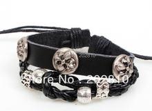 * Хит продаж модный плетеный кожаный браслет из Кореи с бусинами
