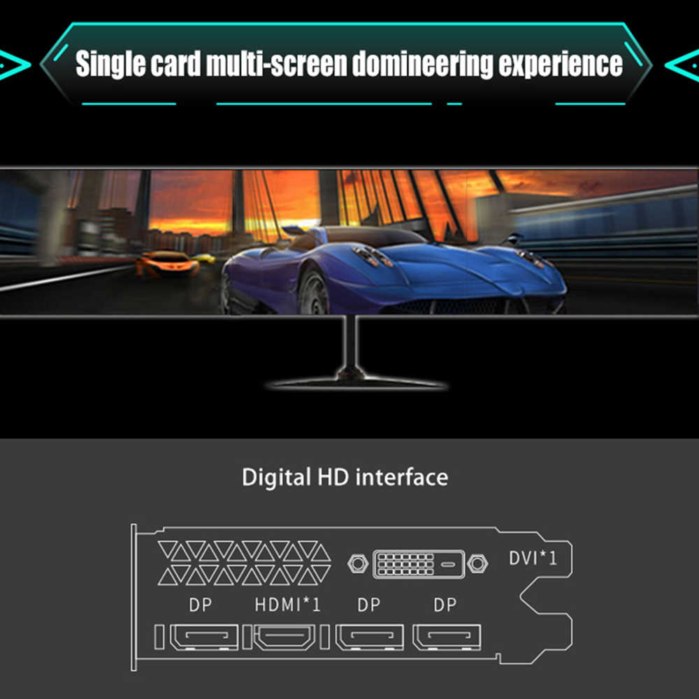 MAXSUN tarjeta gráfica rx 580 gran Mac Plus 8G PC AMD 256bit GDDR5 8000MHz 1257-1340MHz HDMI + DP + DVI 2304 unidades 14nm RX580 tarjeta de video