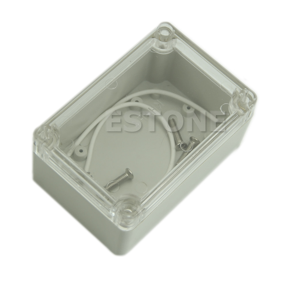 Plastic Waterproof Clear Cover Electronic Project Box Enclosure Case 100x68x50mm
