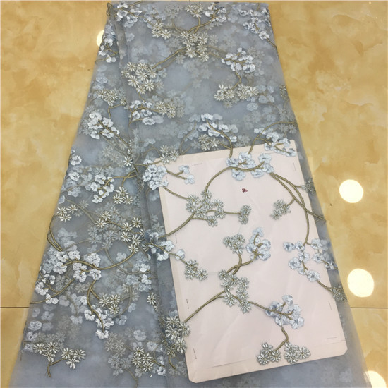 2019 African Laces Fabrics Embroidered Nigerian Guipure French Cord Lace Fabric High quality Rose African French