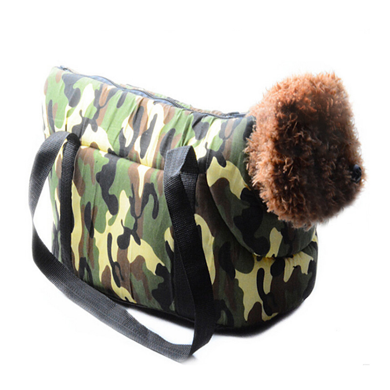 Hot Sale Puppy Dog Bag Portable Outdoor Travel Carrying Bag for Dogs and Cat Carrier Camouflage Breathable Pet Carrier