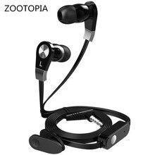ZOOTOPIA JM02 portátil com fio fone de ouvido fones de ouvido fones de ouvido estéreo de 3.5mm super bass G5-005 audifonos fones com microfone