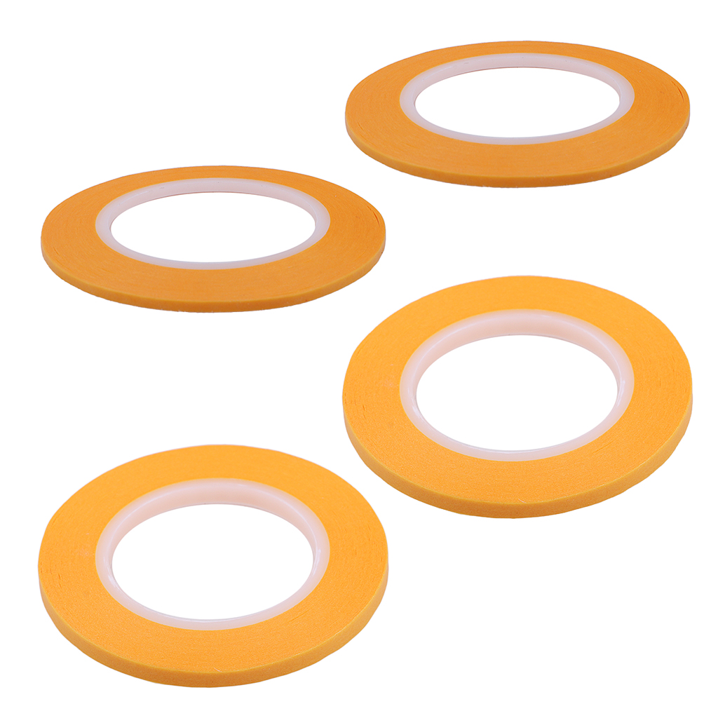 2 & 3 &4 &6mm Yellow Painting Model Mask Tape Model Airbrushing Decoration
