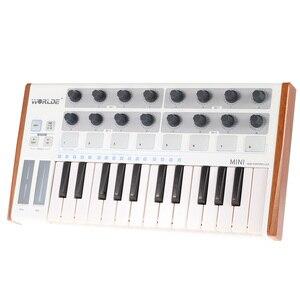 Image 3 - Worlde Mini controlador de batería y teclado, portátil, profesional, 25 teclas, USB, MIDI