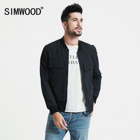 SIMWOOD 2019 Spring New baseball collar pockets Bomber Jacket Men Fashion Coats Male Outerwear Slim Fit Brand Clothing JK017003