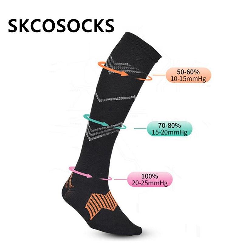 SKCOSOCKS Unisex Compression   Socks   Men's Anti Fatigue Pain Relief Knee High Stockings Flight Travel Riding Sporter Long   Socks