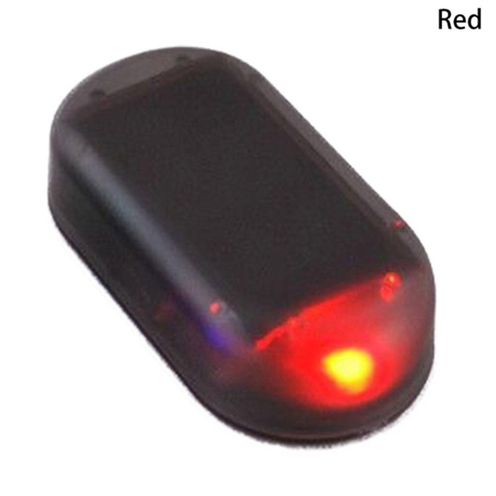 Vehemo поддельная вспышка Противоугонная Предупреждение льная лампа Противоугонная Аккумуляторная Автомобильная охранная сигнализация свет солнечной энергии - Испускаемый цвет: Красный
