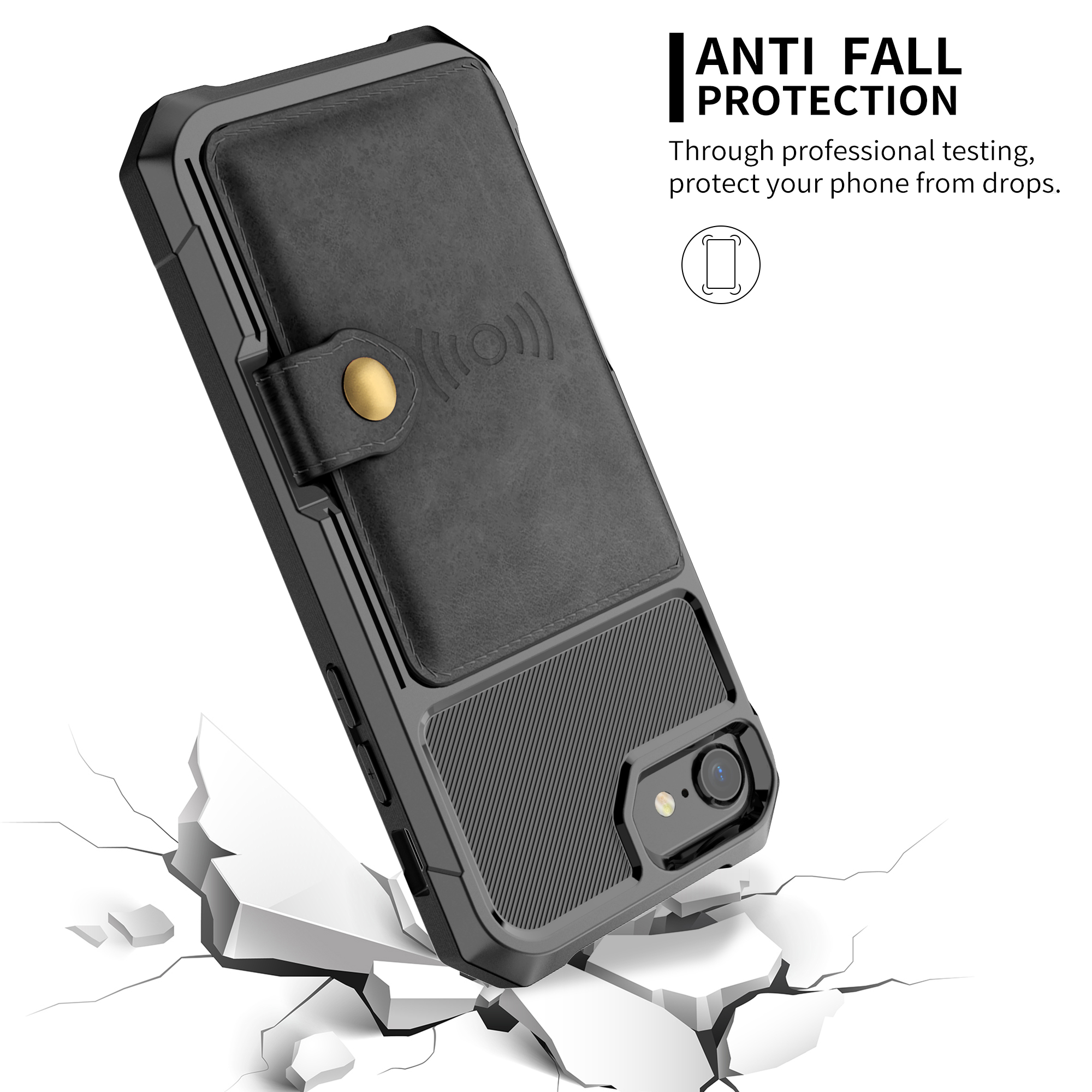 Image 4 - Luxury PU Leather Wallet Case for iPhone 6 6s 7 8 Plus X XS XR XX MAX Cases Wallet Flip Cover Buckle for iPhone Phone XR Fundas-in Fitted Cases from Cellphones & Telecommunications
