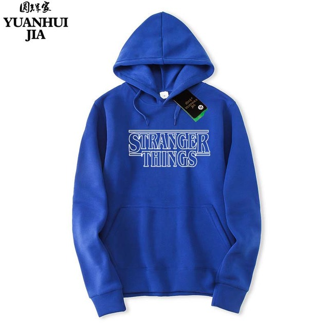 2018 Trendy Faces Stranger Things Hooded Mens Hoodies and Sweatshirts Oversized for Autumn with Hip Hop Winter Hoodies Men Brand 2