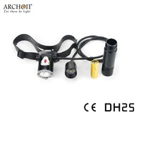 Archon DH25 WH31 Headlamp Cree XM L U2 Canister Snorkeling Scuba Diving Flashlight Headlight by 26650 battery