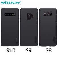 Caso para Samsung Galaxy S10 S9 S8 Plus estuche protector Super esmerilado NILLKIN de contraportada para Samsung S10 regalo teléfono del soporte