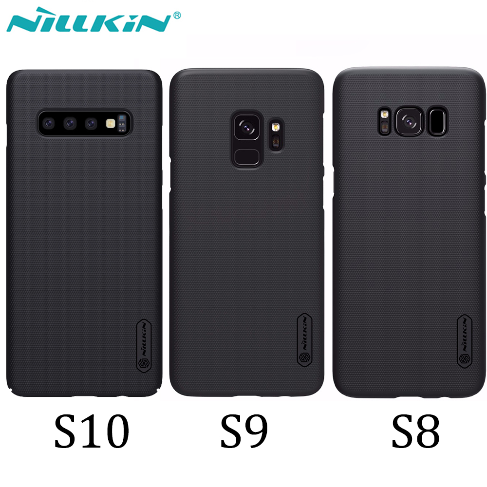 Fall Für Samsung Galaxy S10 S9 S8 Plus NILLKIN Super Matt Schild zurück abdeckung Für Samsung S10 geschenk telefon halter