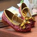 Enfants 2017 niños princesa shoes shoes kids girls vestido de novia bling del vestido shoes party shoes niños sneakers niños mocasines