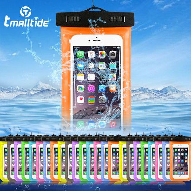 Универсальный телефон Сумки чехол с ремешком водостойкие Чехлы для мангала iPhone 6 5s 6S 7 Plus