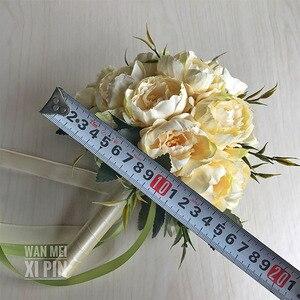 Image 5 - Wedding Bouquet Wedding Bouquet Handmade Artificial Flower Rose Bridal Bouquet wedding bride flower  flower girl wand