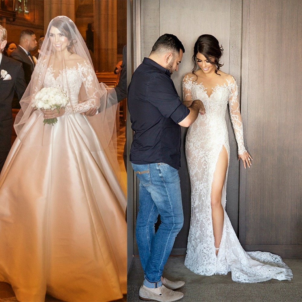 2 In 1 Wedding Gowns Fashion Dresses